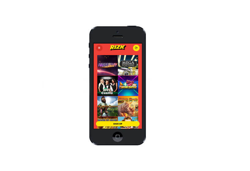 Rizk Casino on Phablets