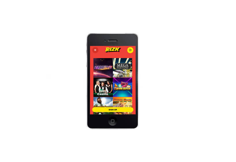 Rizk Casino on Smartphones