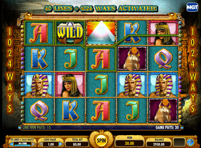CasinoJuggler.com - Crown of Egypt Slots - Screenshot (1)