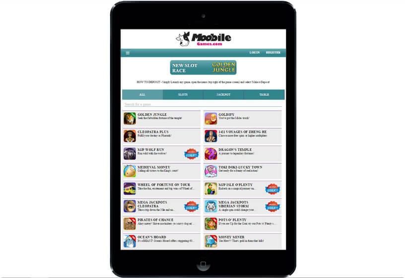 Moobile Games on Tablets